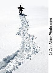 步行, 雪