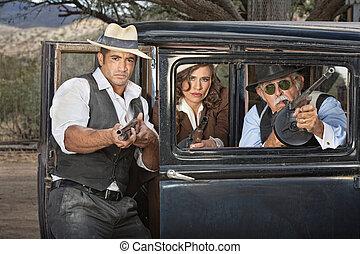 武器, ギャング, 1920s, 狙いを定める