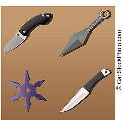 武器, セット, #1