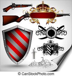 武器, 古代, セット