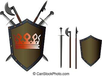 武器, 橫渡, 盾