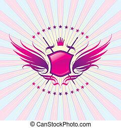 武器, 王冠, よろいかぶと, 翼