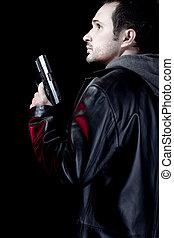 武装させられた, 人, ピストル, 強盗, ただ1つだけである