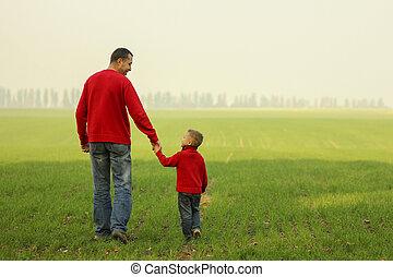 歩きなさい, 息子, 父, 自然
