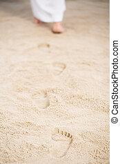 歩くこと, イエス・キリスト, 足跡, 去ること