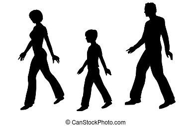 歩くこと, ベクトル, 家族