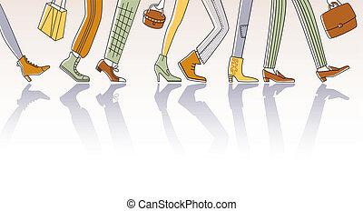歩くこと, 人々