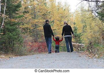 歩くこと, 家族