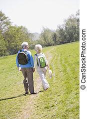 歩くこと, 恋人, 公園の保有物手, 道