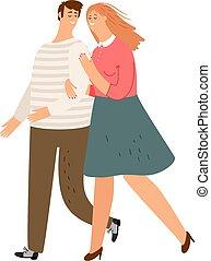 歩くこと, 恋人, 幸せ
