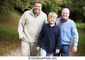 歩くこと, 祖父, 孫, 息子