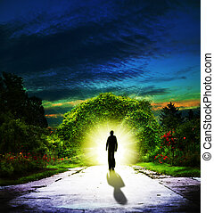 歩くこと, 背景, 抽象的, 霊歌, eden.