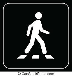 歩行者, シンボル