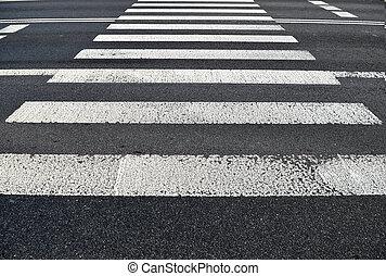 歩行者, 交通機関, 背景, 手ざわり, crossing.