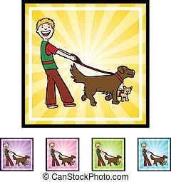 歩行者, 犬