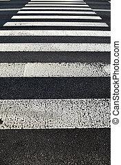 歩行者, crossing., 交通機関, 背景, 手ざわり
