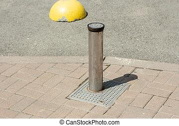 歩道, 引き込み式, 道, 柱