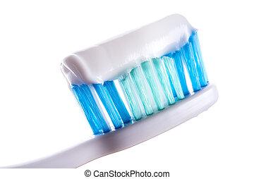歯ブラシ, ∥で∥, 歯磨き粉, 白, 背景