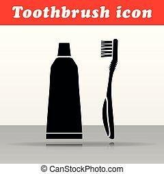 歯ブラシ, ベクトル, デザイン, アイコン