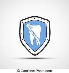 歯ブラシ, ベクトル, 保護, 人間, 歯