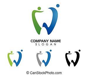 歯医者の, イラスト, ベクトル, テンプレート, ロゴ, アイコン