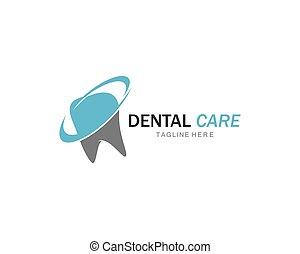 歯医者の, イラスト, ベクトル, テンプレート, 微笑, ロゴ, アイコン