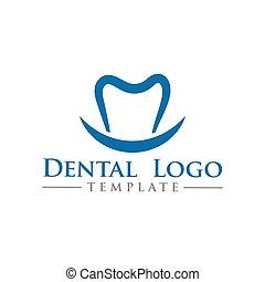 歯医者の, イラスト, ベクトル, デザイン, テンプレート, ロゴ