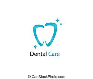 歯医者の, イラスト, ベクトル, デザイン, テンプレート, 微笑, ロゴ, アイコン