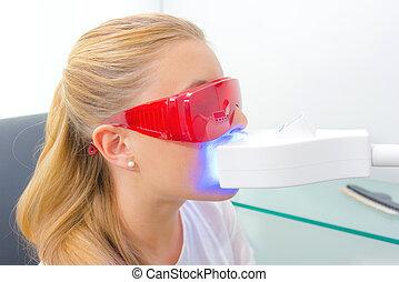 歯医者の, クローズアップ, 待遇, 持ちなさい, すみれ,  ultra, 女性