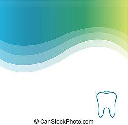 歯医者の, 緑の背景