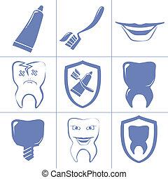 歯医者の, websait, アイコン
