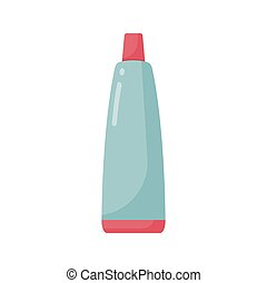 歯磨き粉, チューブ, ベクトル, 平ら, アイコン