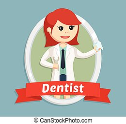歯科医, 女, 紋章