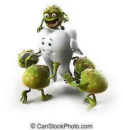 歯, そして, バクテリア