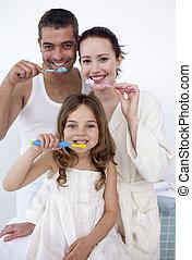 歯, ∥(彼・それ)ら∥, 清掃, 浴室, 家族
