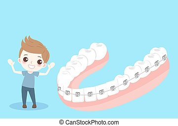 歯, 支柱, 男の子