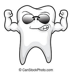 歯, 漫画, 強い