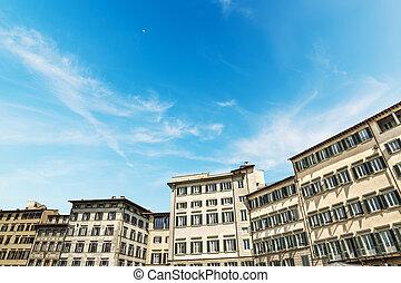 歴史的な建物, 中に, 広場, santa, croce