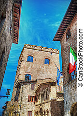 歴史的な建物, 中に, san gimignano
