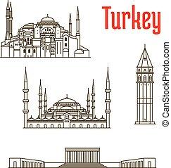 歴史的, ランドマーク, sightseeings, トルコ