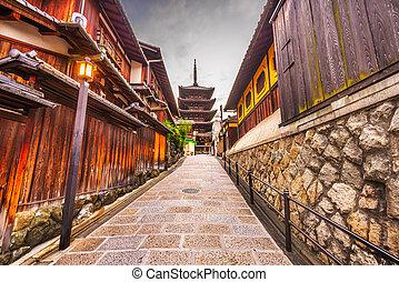 歴史的, 京都, 日本, アリー