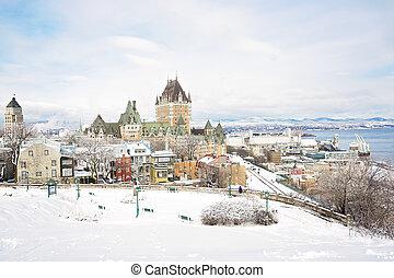歴史的, 城 frontenac, 中に, ケベック 都市