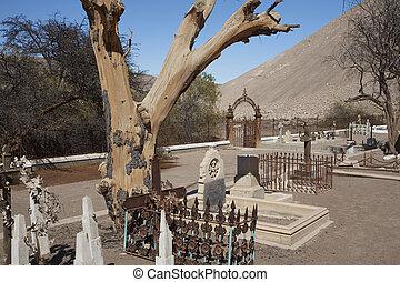 歴史的, 墓地, atacama 砂漠