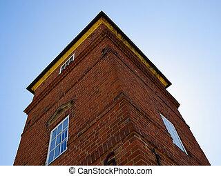 歴史的, 大邸宅, 家, 上に, fyn, funen, 島, デンマーク