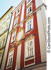 歴史的, 家, 中に, ∥, 中心, の, プラハ