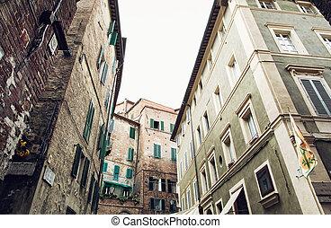 歴史的, 家, 中に, siena, イタリア