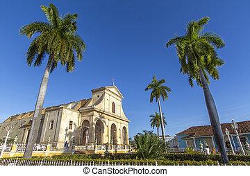 歴史的, 教会, 都市で, の, トリニダード, キューバ