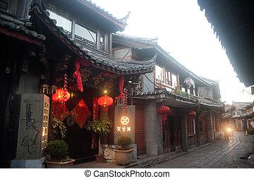 歴史的, 町, の, 麗江, 世界, 相続財産, サイト, 中に, yunnan