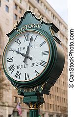 歴史的, f, 通り, 時計, washington d.c.