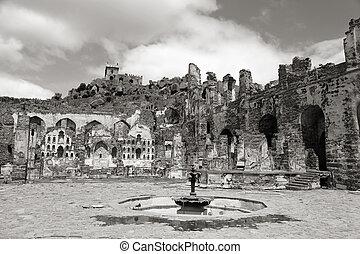 歴史的, golkonda, 城砦